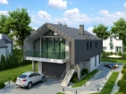 Проект современного коттеджа с гаражом