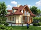 Проект комфортного одноэтажного дома с мансардой и гаражом